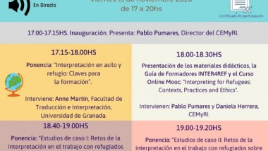 Workshop Inter4Ref Spain: Interpreting for refugees: Contexts, practices and ethics.