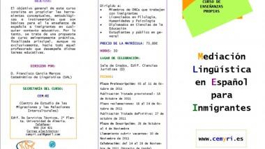 Mediación Lingüística en español para inmigrantes.