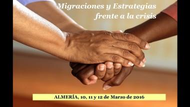 XVI Congreso de Inmigración. Migraciones y Estrategias frente a la crisis.