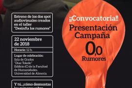 """Estreno de 2 Spots audiovisuales creados en el Taller """"Desinfla los Rumores"""""""