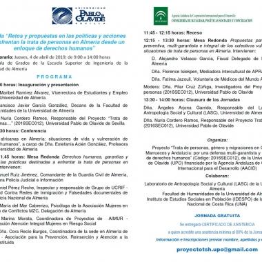 Retos y propuestas en las políticas y acciones que enfrentan la trata de personas en Almería desde un enfoque de DD.HH
