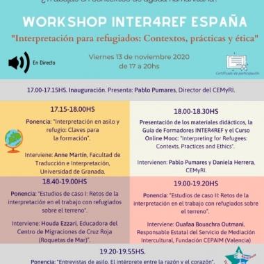 Workshop Inter4Ref España: Interpretación para refugiados: Contextos, prácticas y ética.