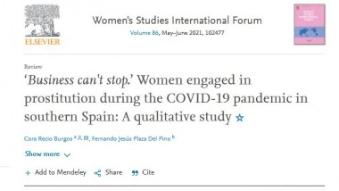 'Business can't stop.' Women engaged in prostitution during the COVID-19 pandemic in southern Spain: A qualitative study